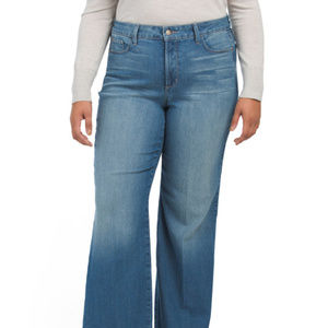 NYDJ Plus Stretch Addison Wide Leg Jeans NWT